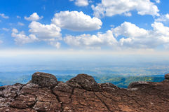 The blue sky with altitude on mountain. The blue sky with altitude on mountain Royalty Free Stock Photos