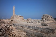 panorama of Athens royalty free stock photography