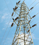 Blue Sky And Electrical Tower. Royalty Free Stock Photography