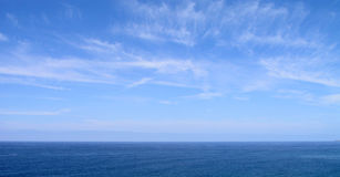 Blue Sky And Sea Royalty Free Stock Photo