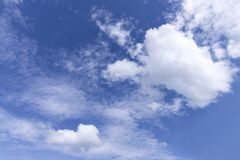 Free Blue Sky And White Fluffy Tiny Clouds Background And Pattern Stock Photos - 104420703