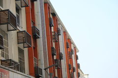 Blue Sky Apartments. New apartments building under the cloudy sky Royalty Free Stock Images