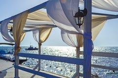 Blue sky and aquamarine seas at Black Sea. Stock Photography