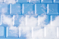 Blue sky as a computer keyboard Royalty Free Stock Photography