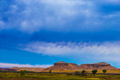 Blue Sky Autumn Trees in the Canyon Utah Fall Landscape Stock Photography