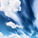 Blue sky background. Colorful bright blue sky background Stock Photo