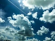 Blue sky background. Beautiful blue sky background close up stock photos