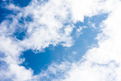 Blue sky background. It is a blue sky background.In the middle you can write Royalty Free Stock Images