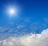 Blue sky background Stock Images