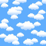 Blue sky background. Background with blue sky and fluffy summer clouds Royalty Free Stock Images