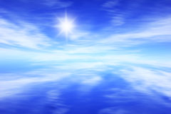 Blue sky background. Abstract blue horizon sky background Royalty Free Stock Images