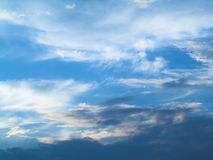 Blue sky (background). Daytime, Blue sky, some clouds Stock Photos