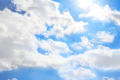 Blue sky background. Blue sky with clouds background Royalty Free Stock Image