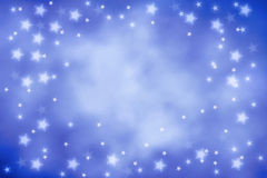 Blue sky  background. Blue background with white stars Stock Image