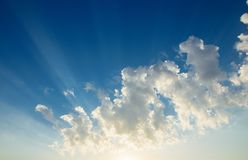 Beautiful summer cloudscape royalty free stock photos