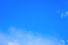 Blue sky background. Big sky with clouds Royalty Free Stock Images