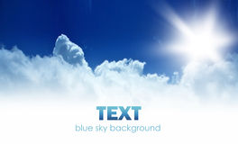 Blue sky background border Stock Images