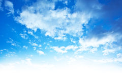 Blue sky background border Royalty Free Stock Photos