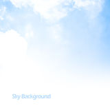 Blue sky background border Royalty Free Stock Images