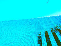 Blue sky and background. Building mirror of contemporary art museum Royalty Free Stock Image