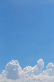 Blue sky background. Blue sky and cloud background Royalty Free Stock Photo