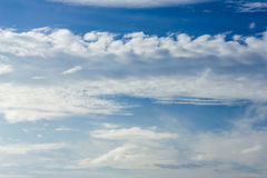 Blue sky background with cloud . Stock Image