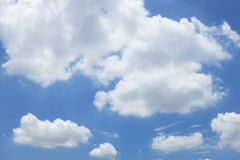 Blue sky background with cloud Royalty Free Stock Photos