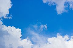 Blue sky background. Blue sky with clouds Royalty Free Stock Images