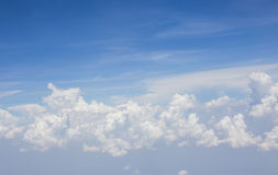 Blue sky background with clouds. Blue sky background with clouds Royalty Free Stock Photo