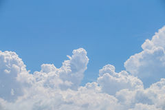 Blue sky background. With clouds Stock Photos