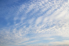 Blue sky background with  clouds Stock Photography