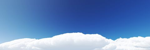 Blue sky background with clouds 3d render. Blue sky with clouds 3d render vector illustration