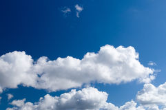 Blue sky background with clouds Stock Image