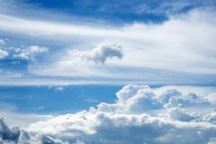 The sky is full of clouds stock photography