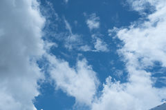 Blue sky background with clouds Royalty Free Stock Photo