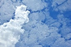 Blue Sky Background - Clouds and Wonders of Nature Royalty Free Stock Photo