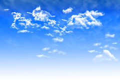 Blue sky background with cumulus clouds Royalty Free Stock Images