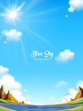 Blue sky background design Royalty Free Stock Photography