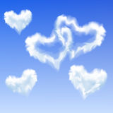 Heart shaped clouds Royalty Free Stock Photos