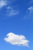 Blue sky background. Royalty Free Stock Photo