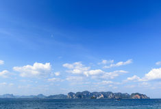Blue sky background. Natural composition, Krabi, Thailand Stock Images