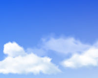 Sky with realistic clouds Royalty Free Stock Images
