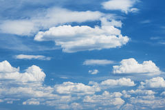 Blue sky background with soft cloud at day Stock Photography