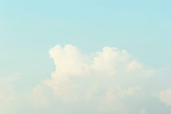 Blue sky background , Soft Pastel Tone Effect Stock Image