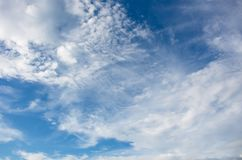 Blue sky background with tiny Stock Photography