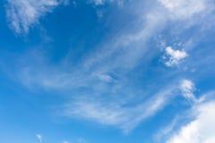 Blue sky background with tiny Stock Photo