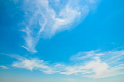 Blue sky. Background with tiny clouds Royalty Free Stock Photography