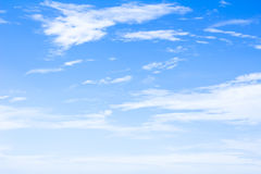 Blue sky background with tiny clouds Stock Photography