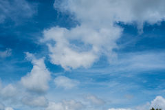 Blue sky background with tiny clouds Royalty Free Stock Images