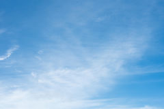 Blue sky background with tiny clouds. Stock Images